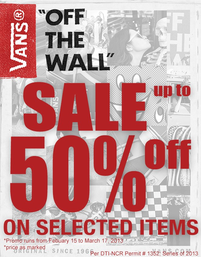 Vans Off The Wall Sale February - March 2013