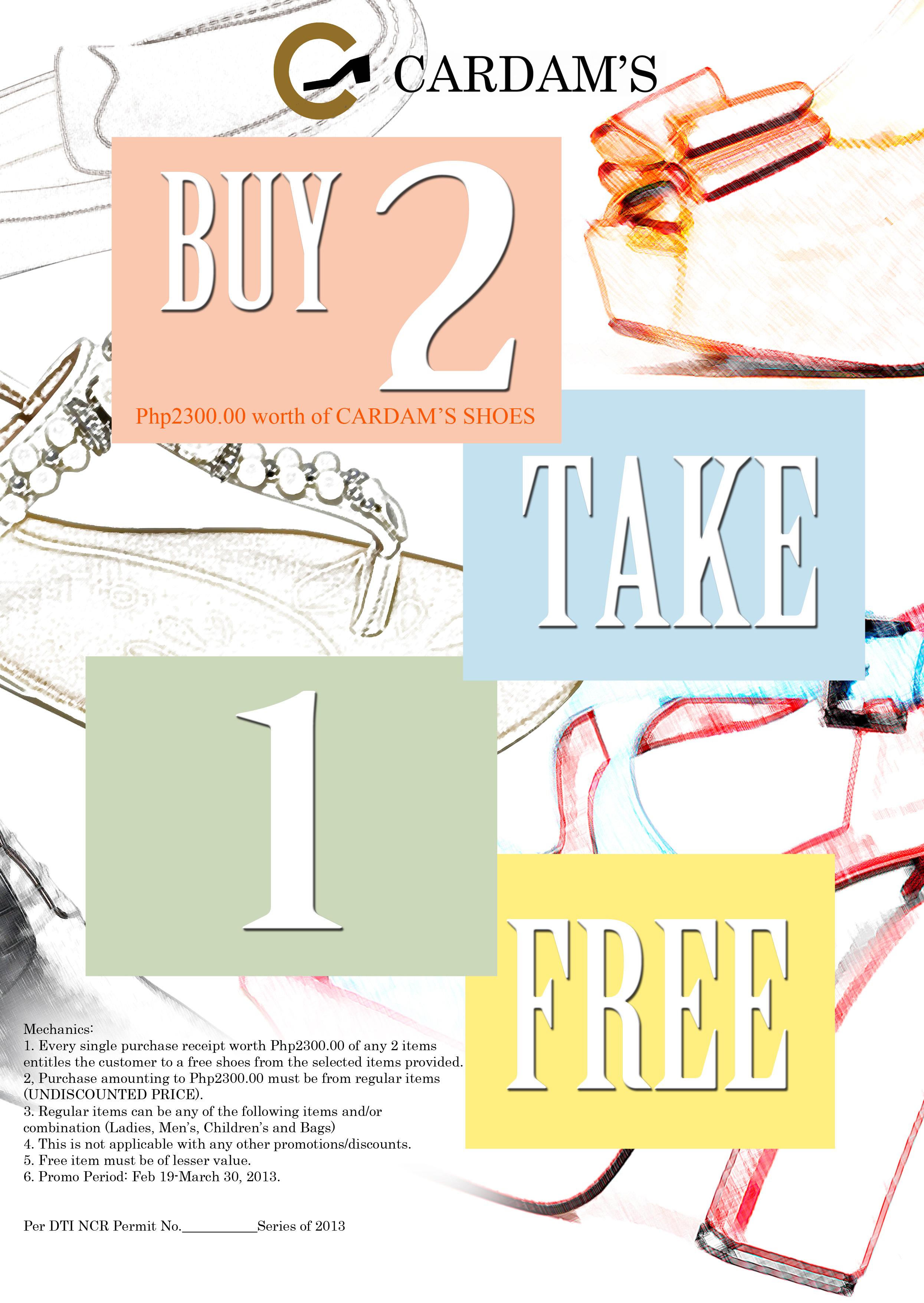Cardams Buy 2 Take 1 Promo March 2013