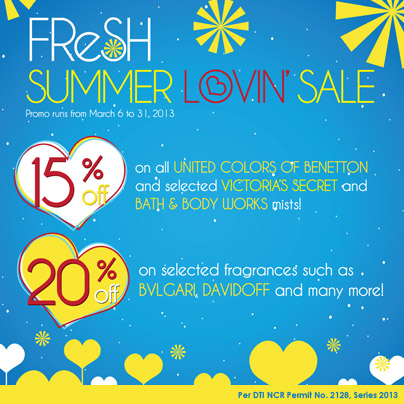 Fresh Fragrance Bar Summer Lovin Sale March 2013