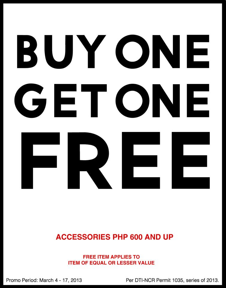 Forever 21 Buy One Get One on Accessories March 2013