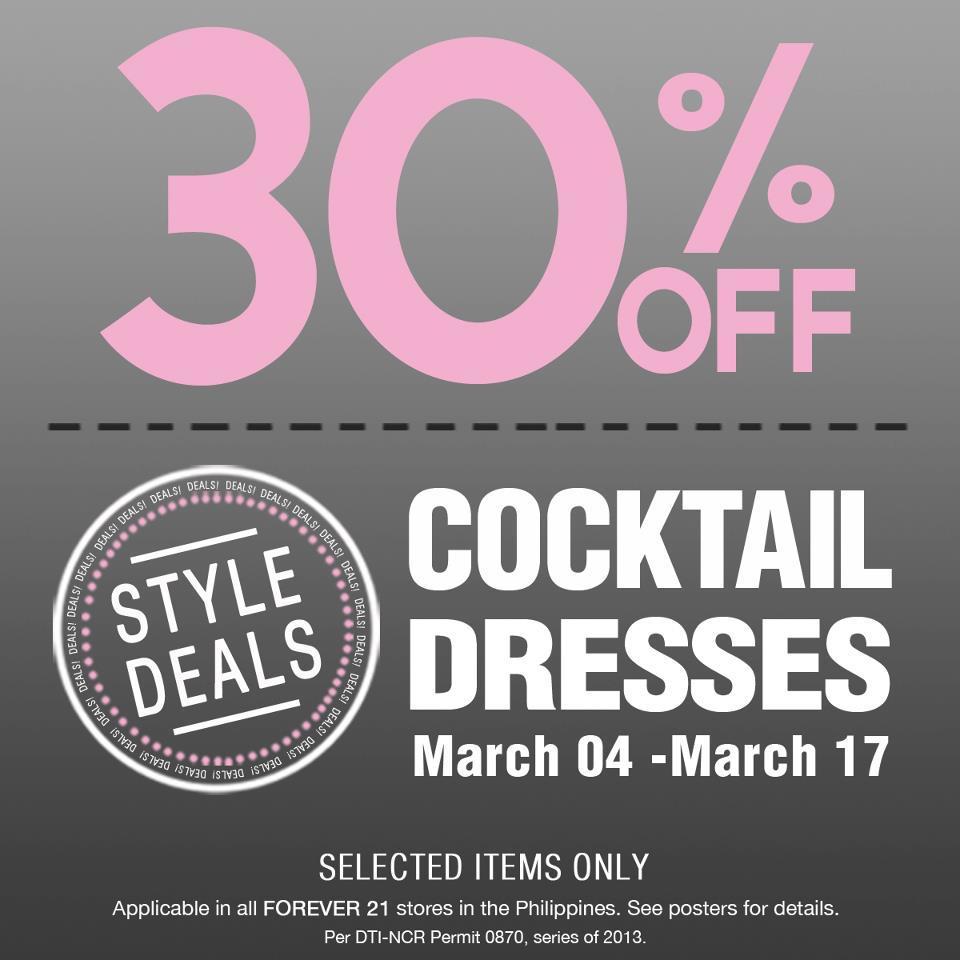 Forever 21 Cocktail Dresses Sale March 2013 | Manila On Sale