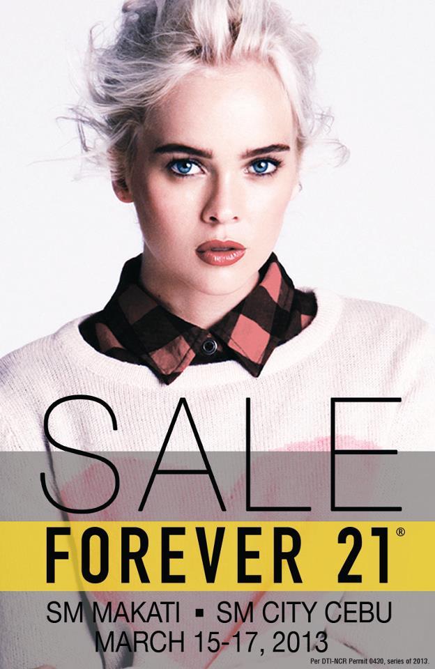 Forever 21 3-Day Sale @ SM Makati & SM City Cebu March 2013