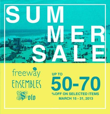 Freeway, Ensembles, Solo Summer Sale March 2013