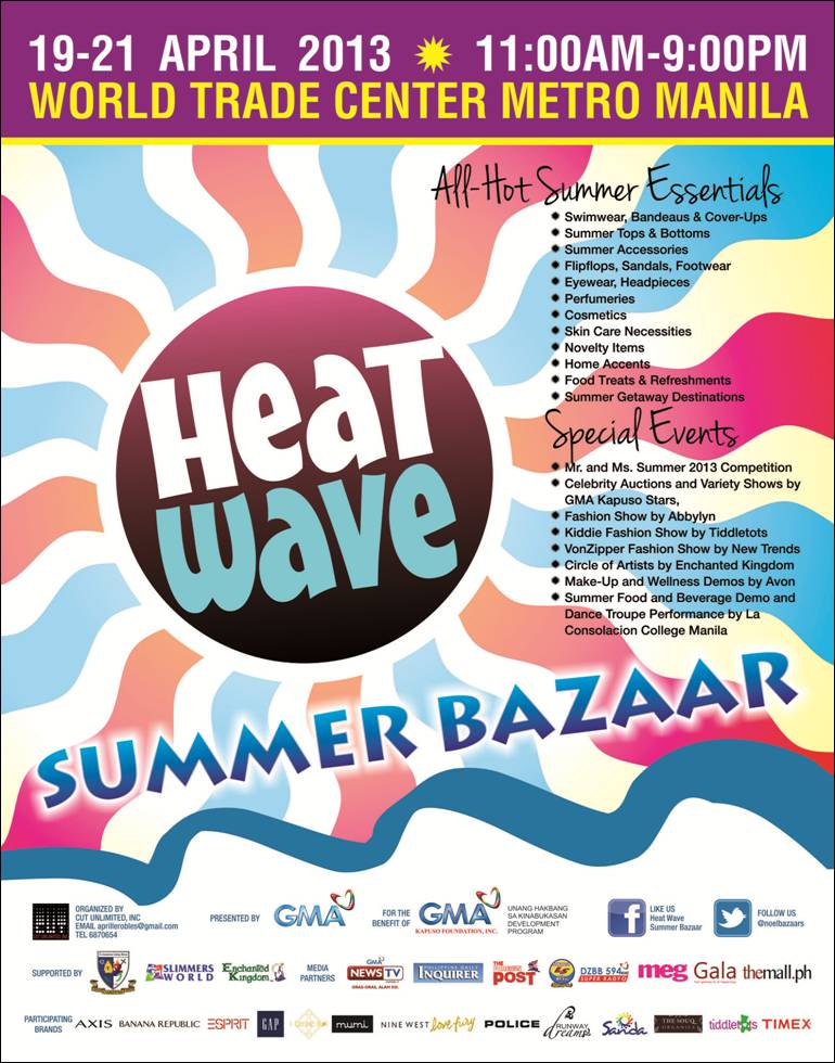 Heat Wave Summer Bazaar @ World Trade Center April 2013
