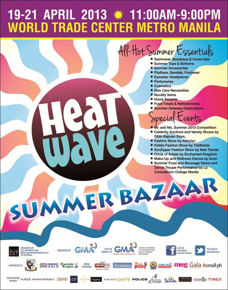 Heat Wave Summer Bazaar World Trade Center April 2013 Manila On Sale