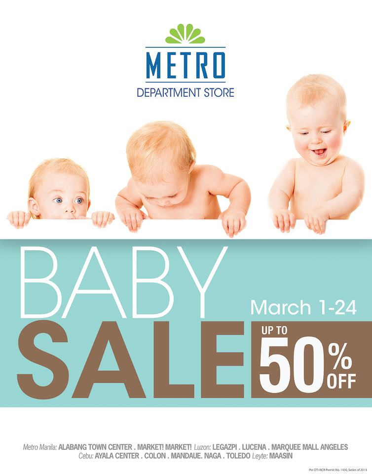 Metro Department Store Baby Sale March 2013