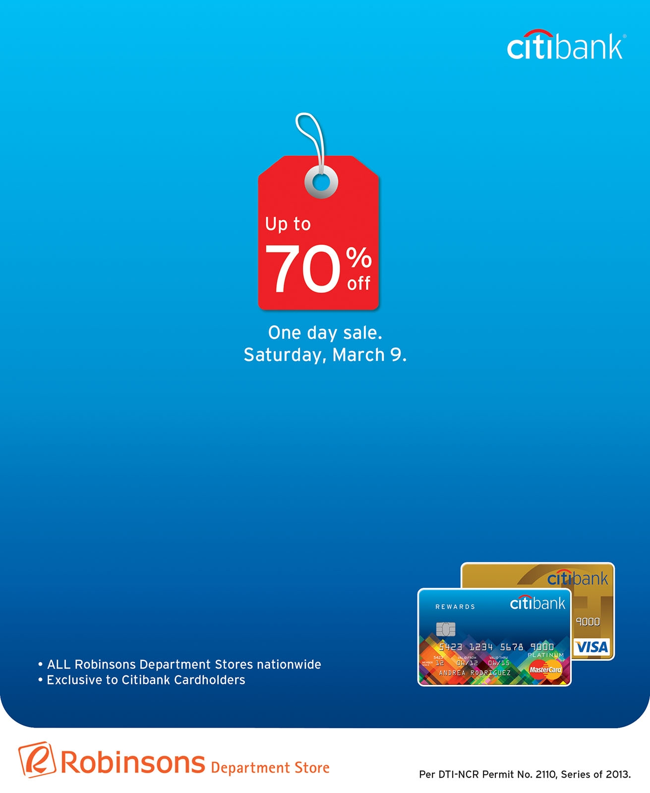 Citibank Promo: One-day exclusive sale for Citibank cardholders March 2013