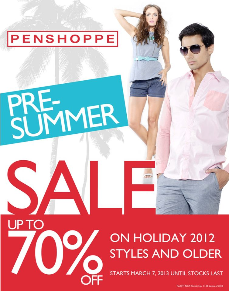 Penshoppe Pre-Summer Sale March 2013