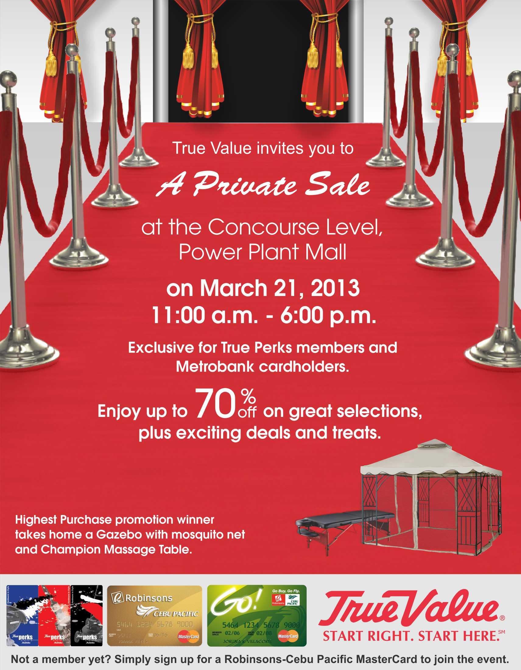 True Value Private Sale @ Power Plant Mall March 2013