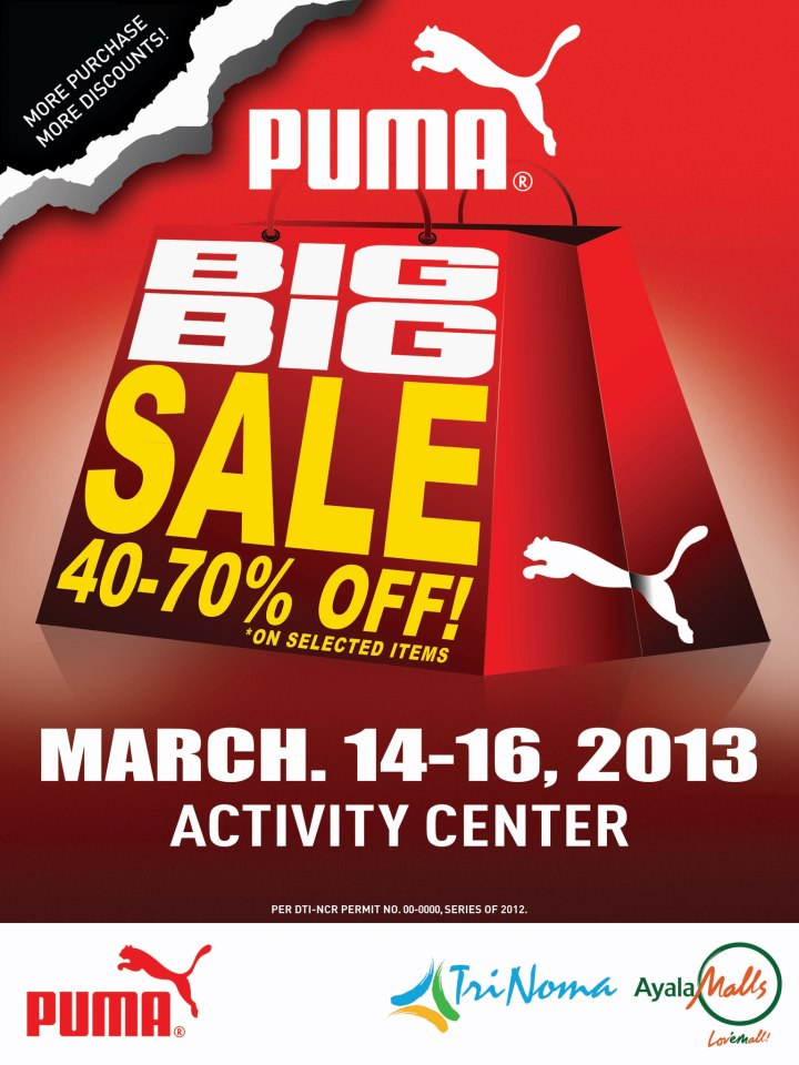 Puma Big Big Sale @ Trinoma Activity Center March 2013