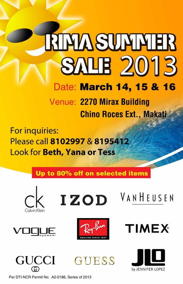 RIMA Summer Sale March 2013