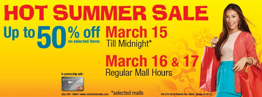 Robinsons Malls Hot Summer Sale March 2013