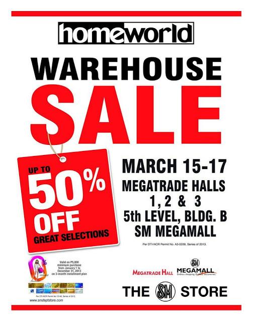 Homeworld Warehouse Sale @ SM Megatrade Hall March 2013