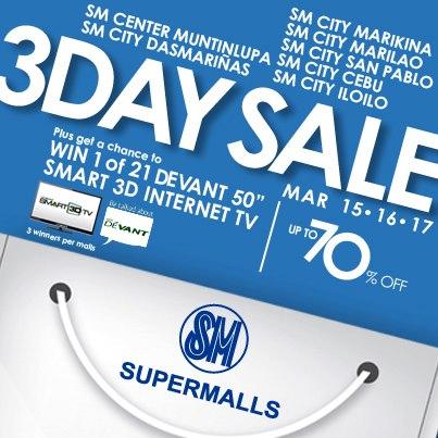 SM Supermalls 3-Day Sale March 2013