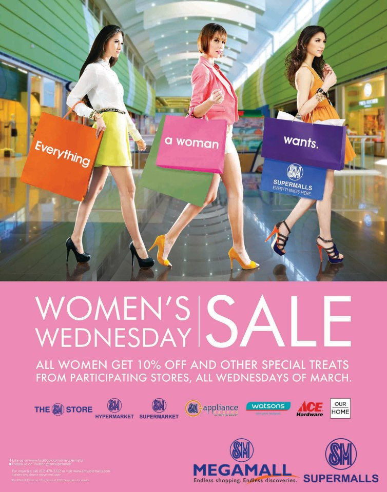 SM Supermalls Womens Wednesday Sale March 2013