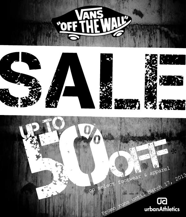 Urban Athletics - Vans Sale March 2013