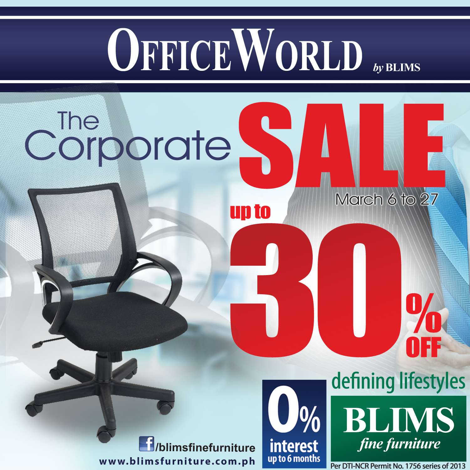 Office World Corporate Sale by BLIMS Fine Furniture March 2013