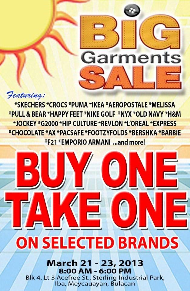 Big Garments Sale March 2013