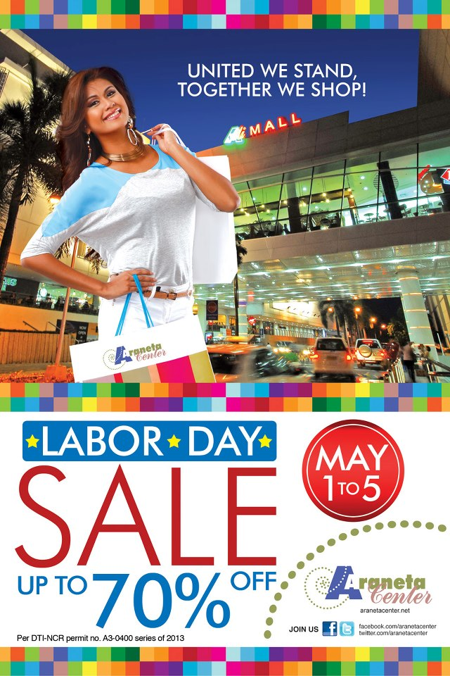 Araneta Center Labor Day Sale May 2013
