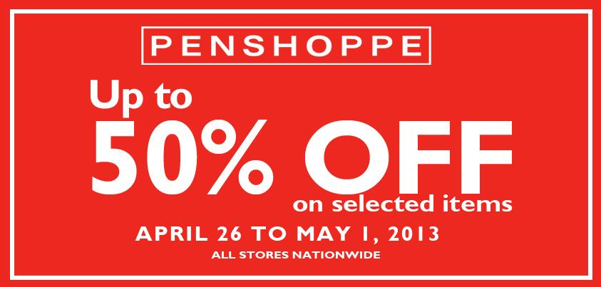 Penshoppe Sale April - May 2013