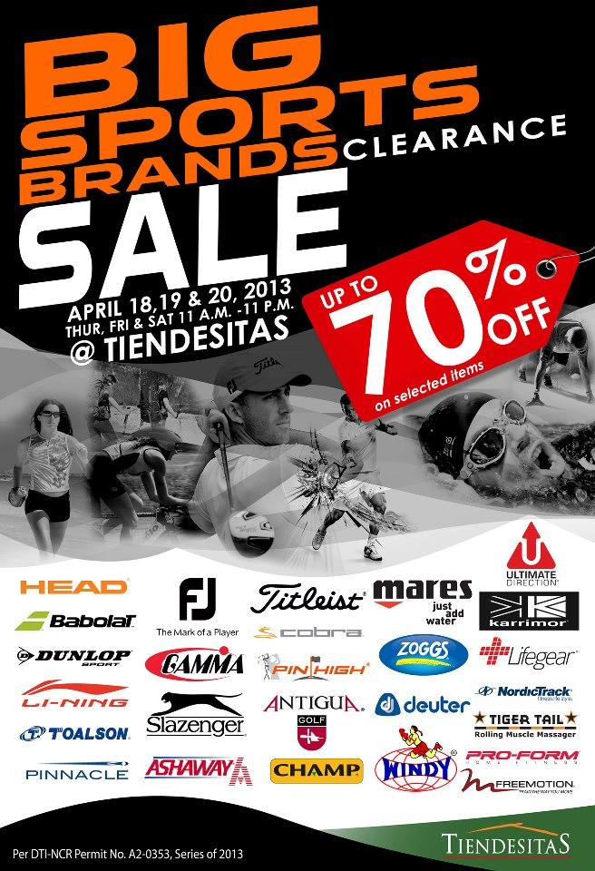 Big Sports Brands Clearance Sale @ Tiendesitas April 2013