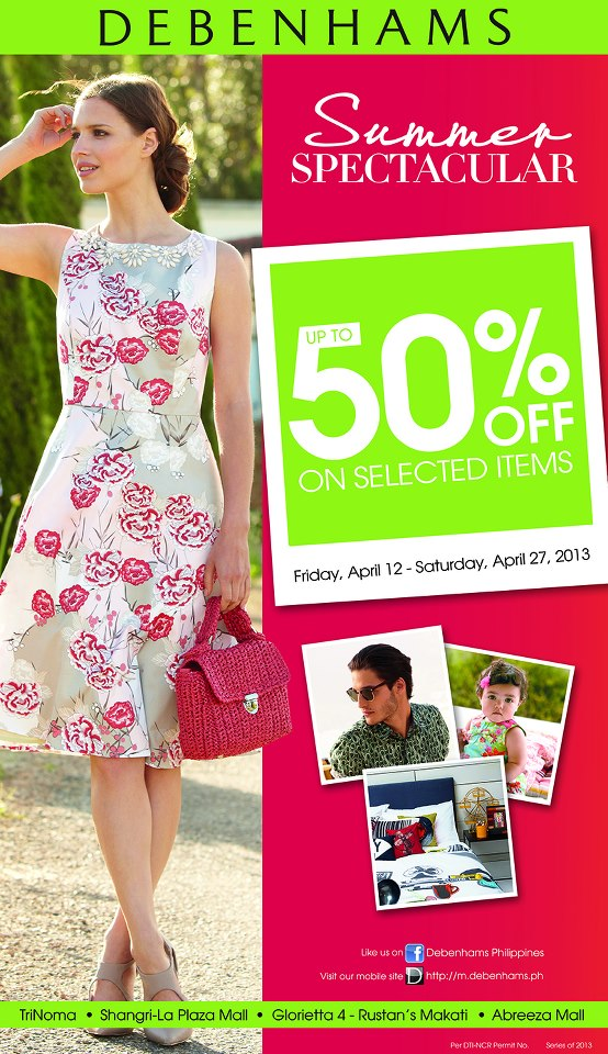Debenhams Summer Spectacular Sale April 2013