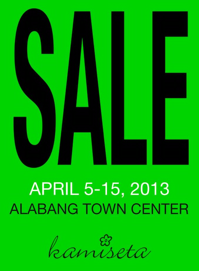 Kamiseta Alabang Town Center Sale April 2013
