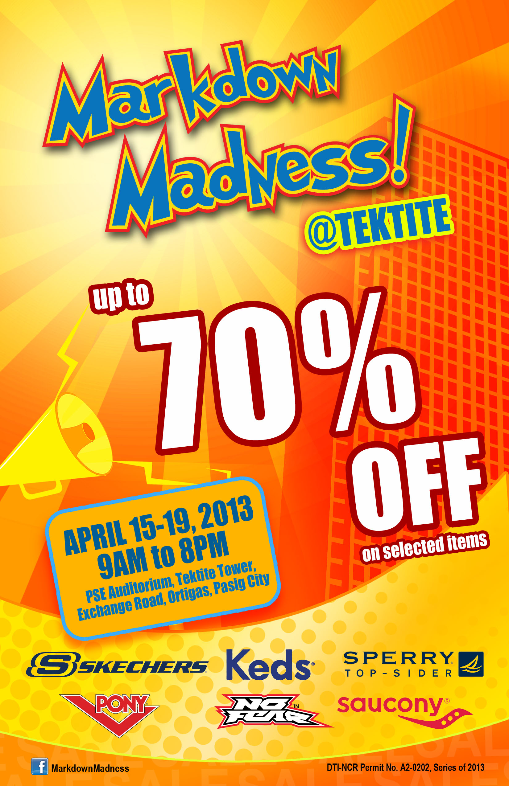 Markdown Madness @ Tektite Building April 2013