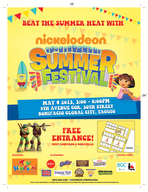 Nickelodeon Summer Festival @ Bonifacio Global City May 2013