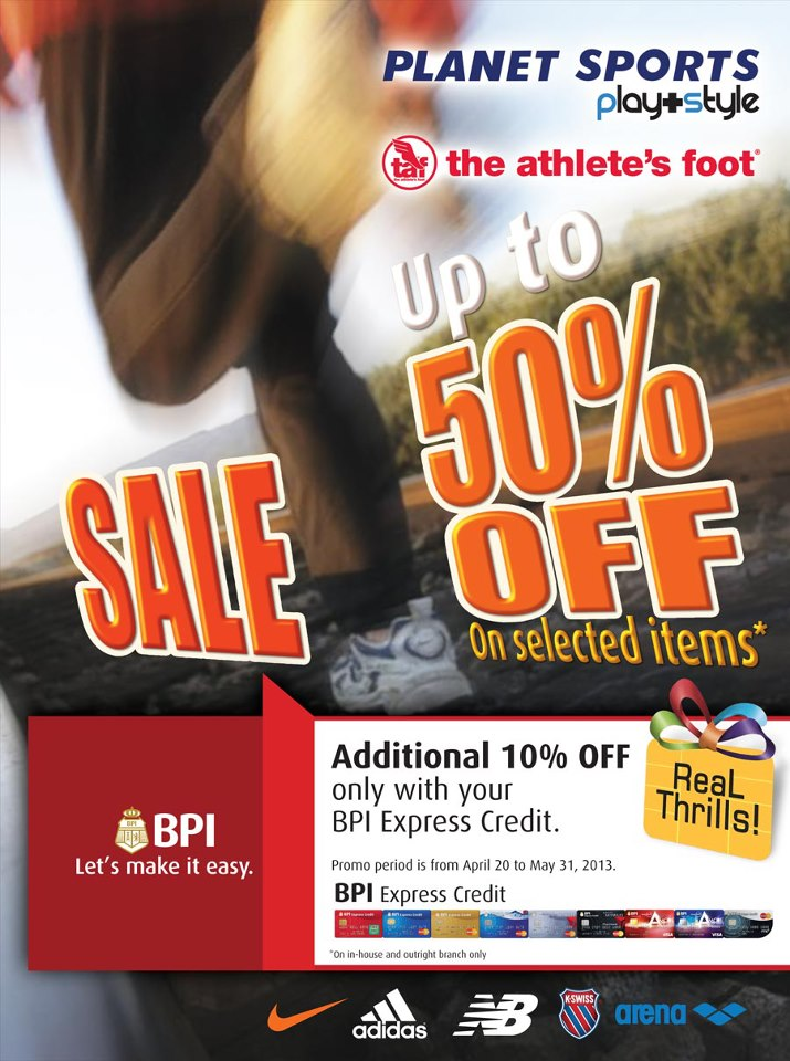 Planet Sports & TAF Philippines Sale April - May 2013