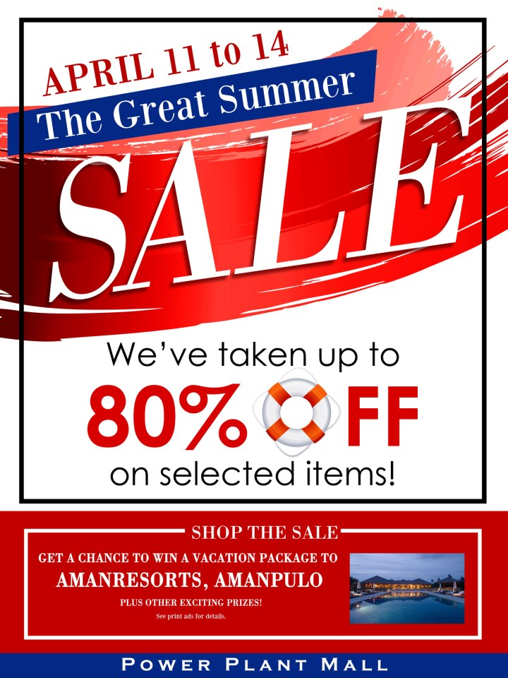 The Great Summer Sale @ Power Plant Mall April 2013