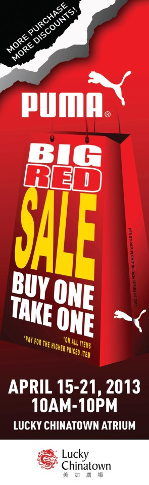 Puma Big Red Sale @ Lucky Chinatown Mall April 2013