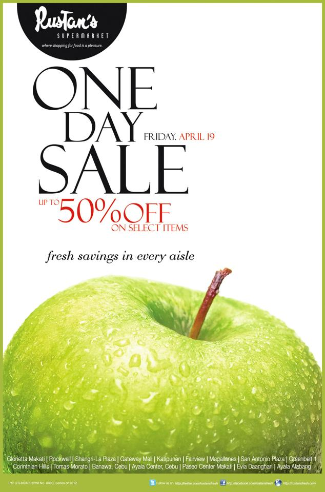 Rustan's Supermarket One Day Sale April 2013