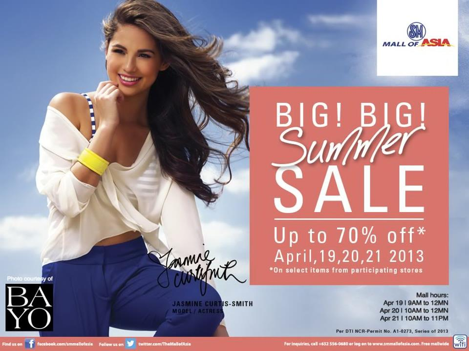 SM Mall of Asia Big Summer Sale April 2013