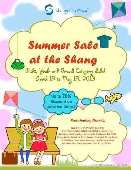 Shangri-La Plaza Mall Summer Sale April - May 2013