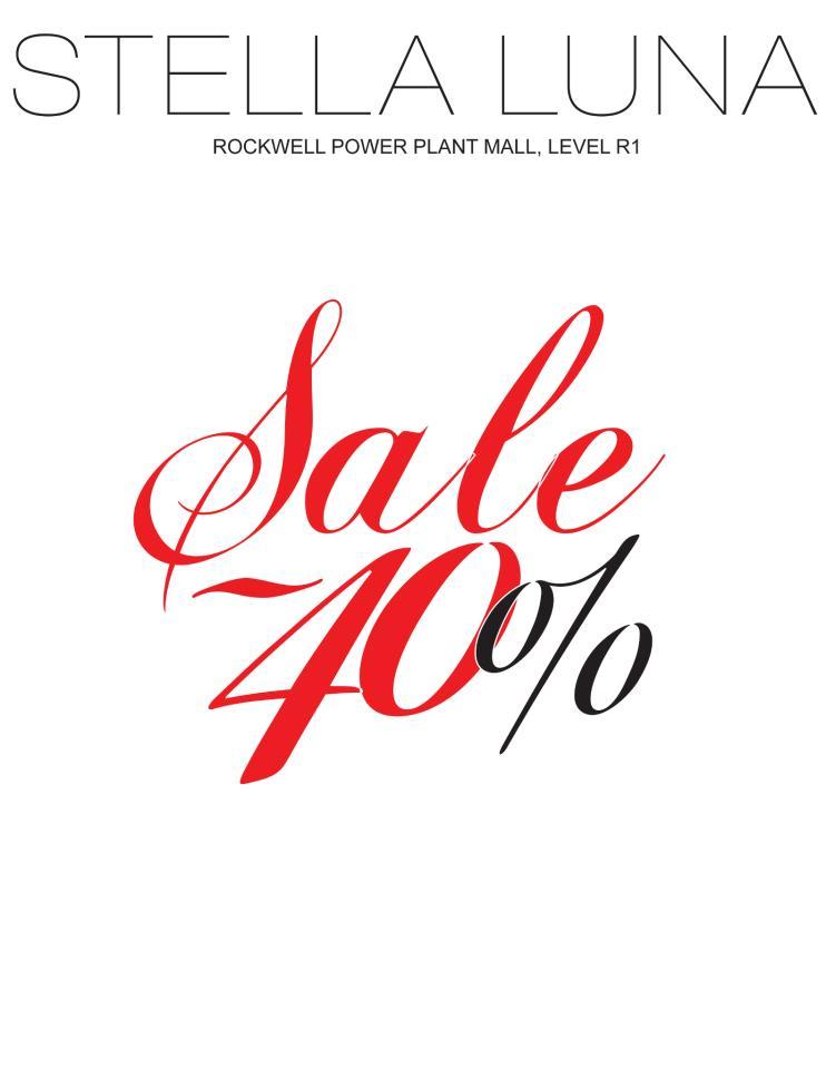 Stella Luna Sale @ Power Plant Mall April - May 2013