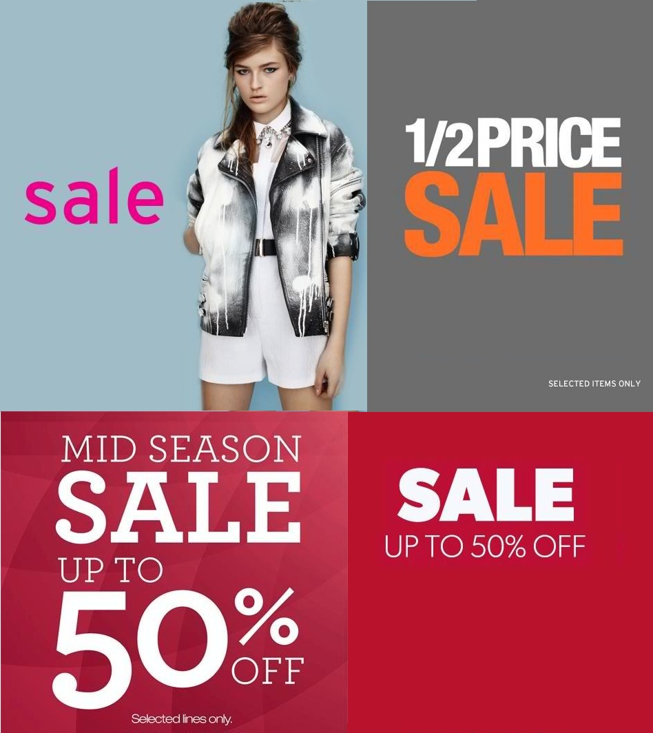 Topshop, Topman, Dorothy Perkins & Warehouse Mid-Season Sale April - May 2013
