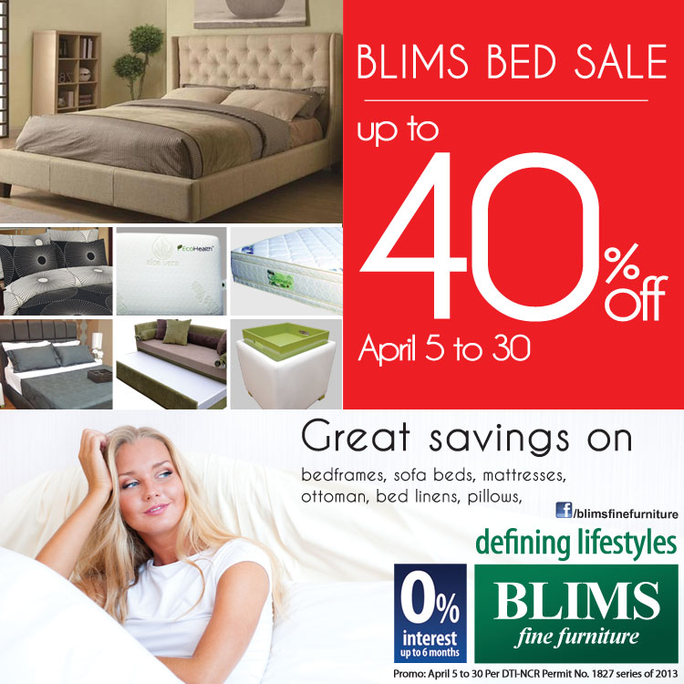 BLIMS Bed Sale April 2013