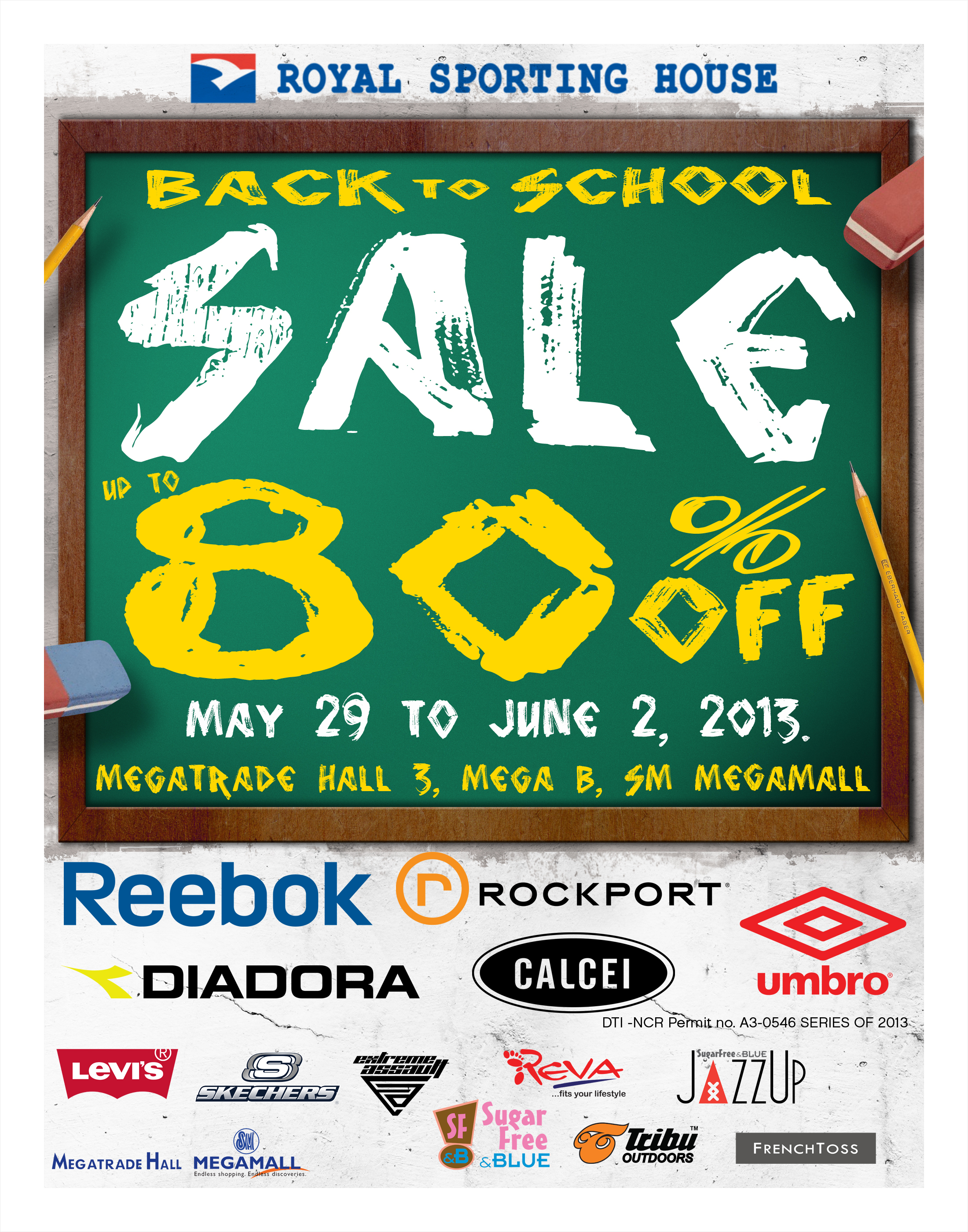 Royal Sporting House Back to School Sale @ SM Megatrade Hall May - June 2013