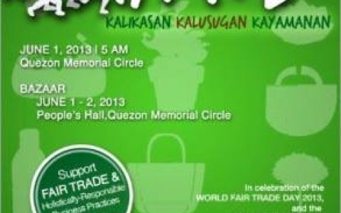 Run and Shop for Fair Trade Bazaar @ Quezon Memorial Circle May - June 2013
