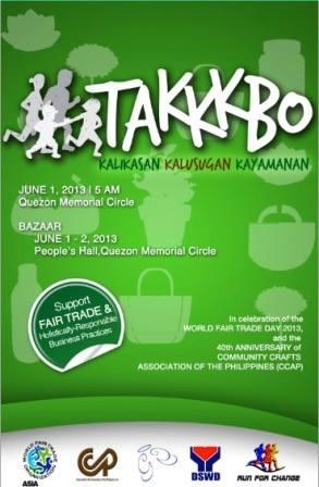 Run and Shop for Fair Trade Bazaar @ Quezon Memorial Circle May - June 2013