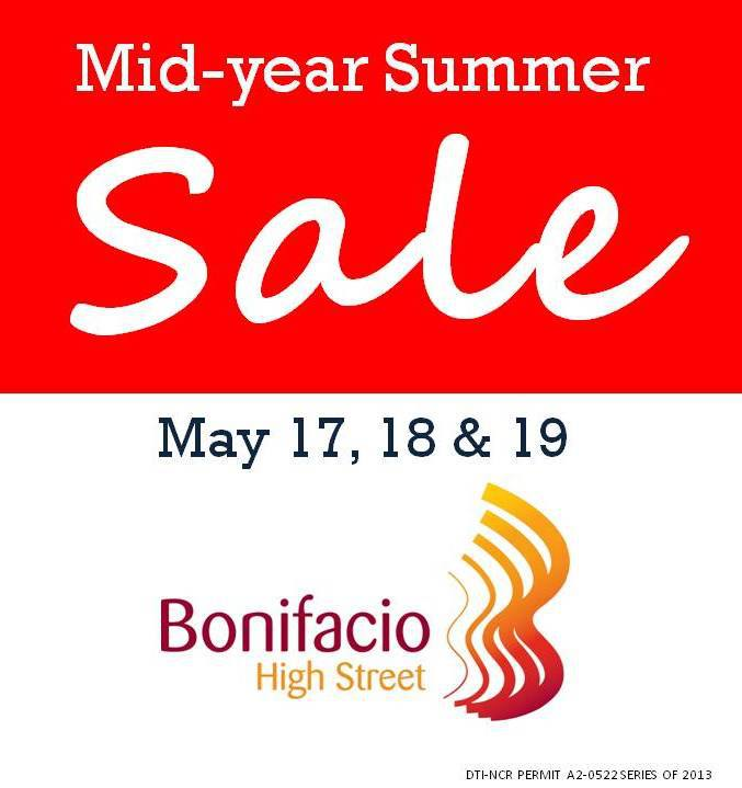 Bonifacio High Street Mid-Year Summer Sale May 2013