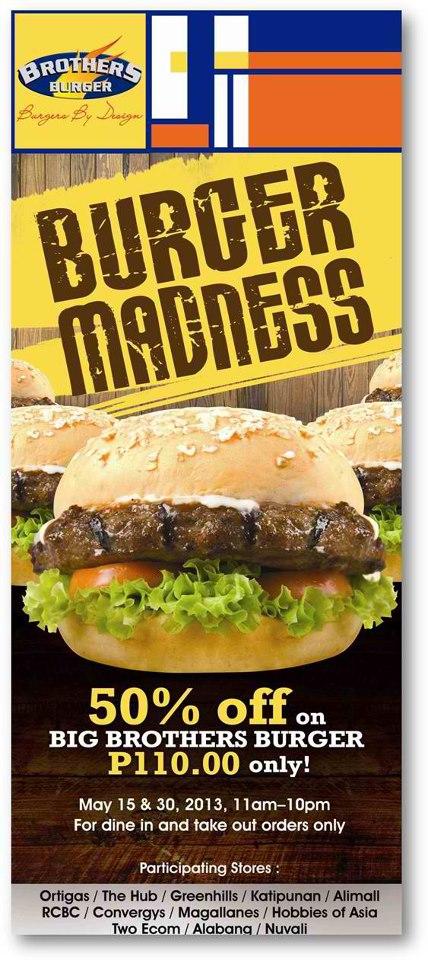 Brothers Burger Burger Madness May 2013