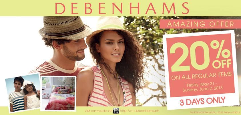 Debenhams Amazing Offer Sale May - June 2013