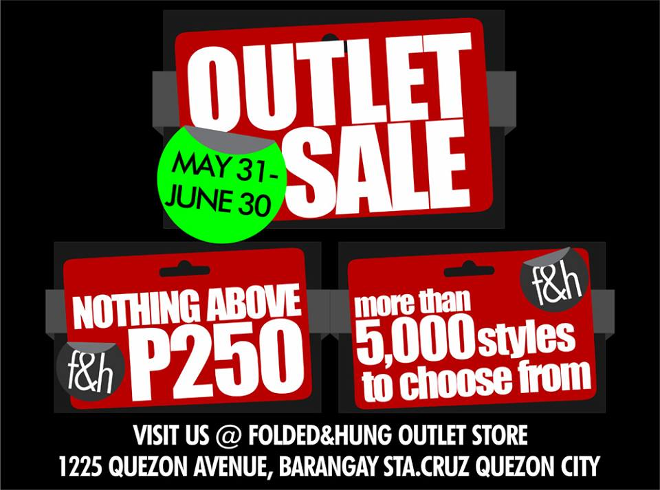 Folded and Hung Outlet Sale May - June 2013