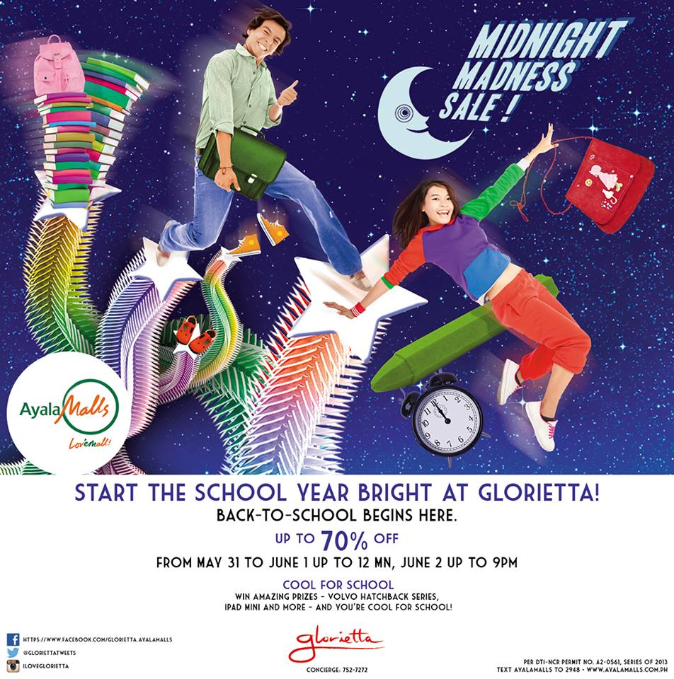 Glorietta Midnight Madness Sale May - June 2013