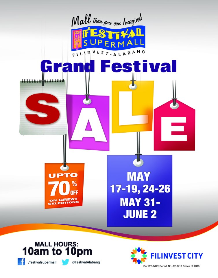 Grand Festival Sale @ Festival Supermall May - June 2013