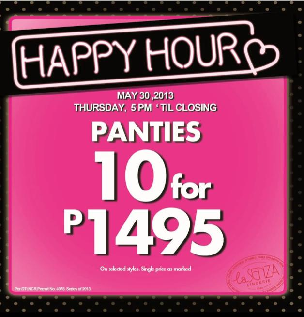 La Senza Happy Hour Sale May 2013
