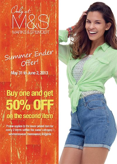 Marks & Spencer Summer Ender Offer May - June 2013