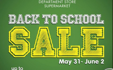 Metro Department Store & Supermarket Back To School Sale May - June 2013